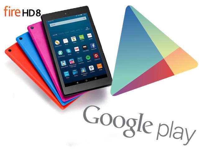 Fire HD 8 və Google Play